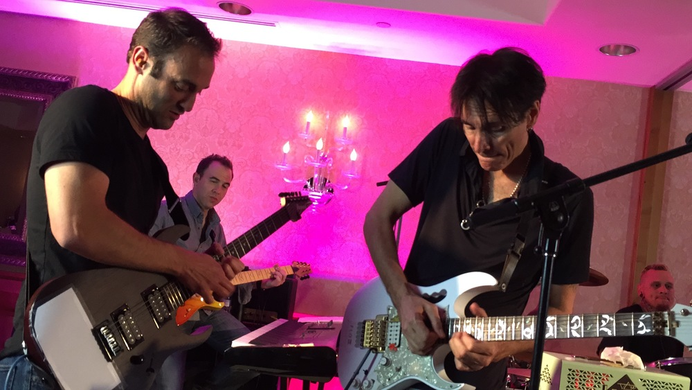 Me jamming with Steve Vai and his incomparable band. Something I never thought I'd be able to say.