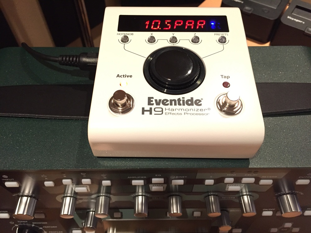 The Eventide H9 sits nicely atop the Kemper to tackle the handful of things the Kemper can't do.
