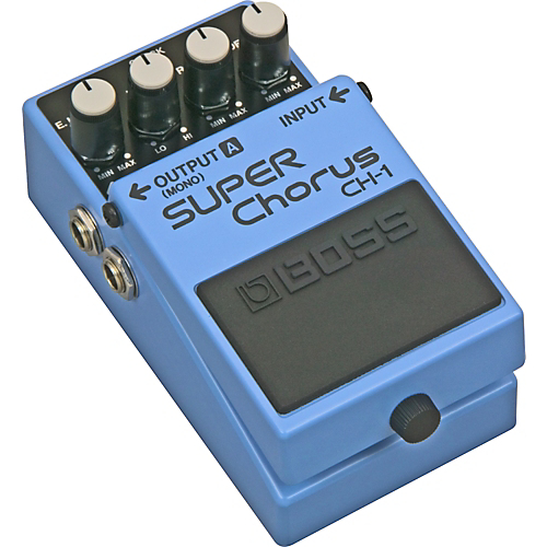 The venerable Boss Super Chorus. Paired with a Kramer guitar and a Peavey amp, you can't get more 80's than that.