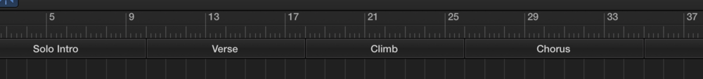 Setting markers as the arrangement develops makes it much easier to navigate the tune throughout the recording and mixing process.