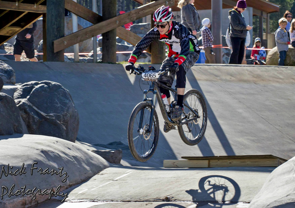 Nick Frantz captured this shot of me rolling off one of the many ramps built for the race.