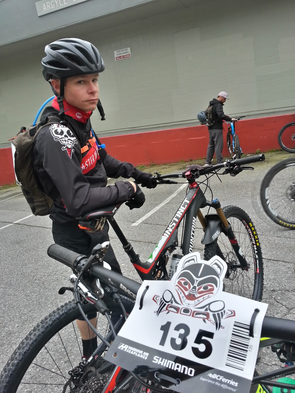Race face before the start of Stage 1