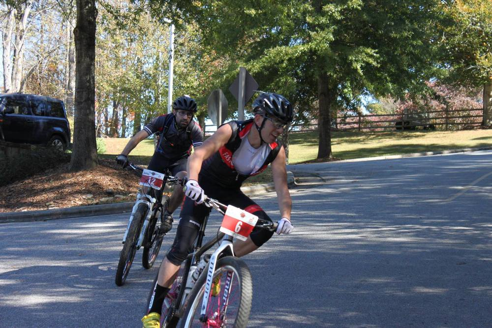 Jarz breathing down my neck going into the Overmountain Victory Trail