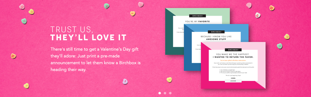 Valentine's Day Site Banner & Printable Gift PDFs