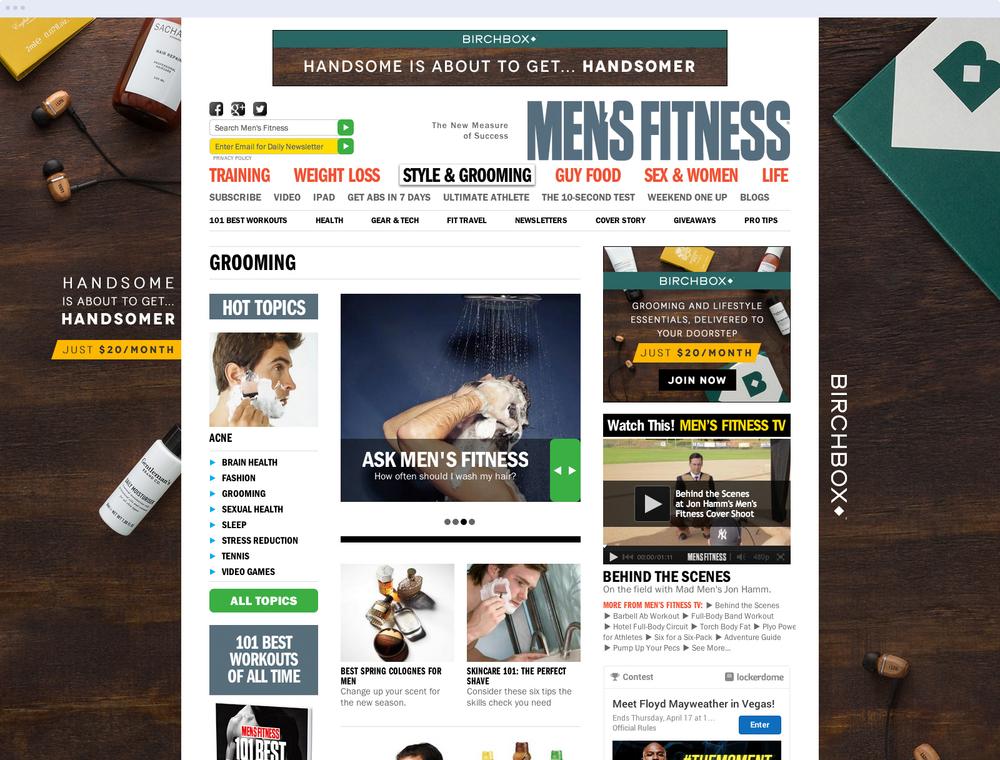 Birchbox x Men's Fitness - Advertising Skin