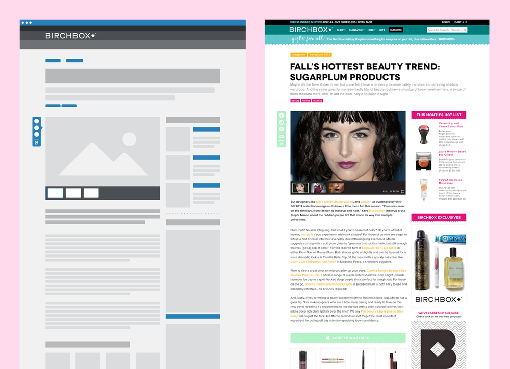 Conceptual Redesign for Blog Post Page
