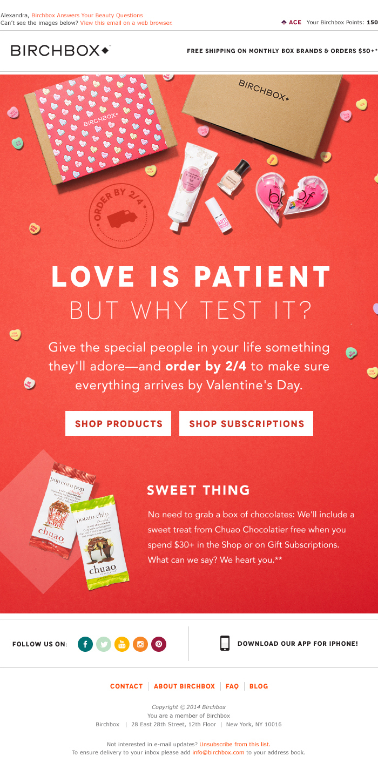 Valentine's Day Email