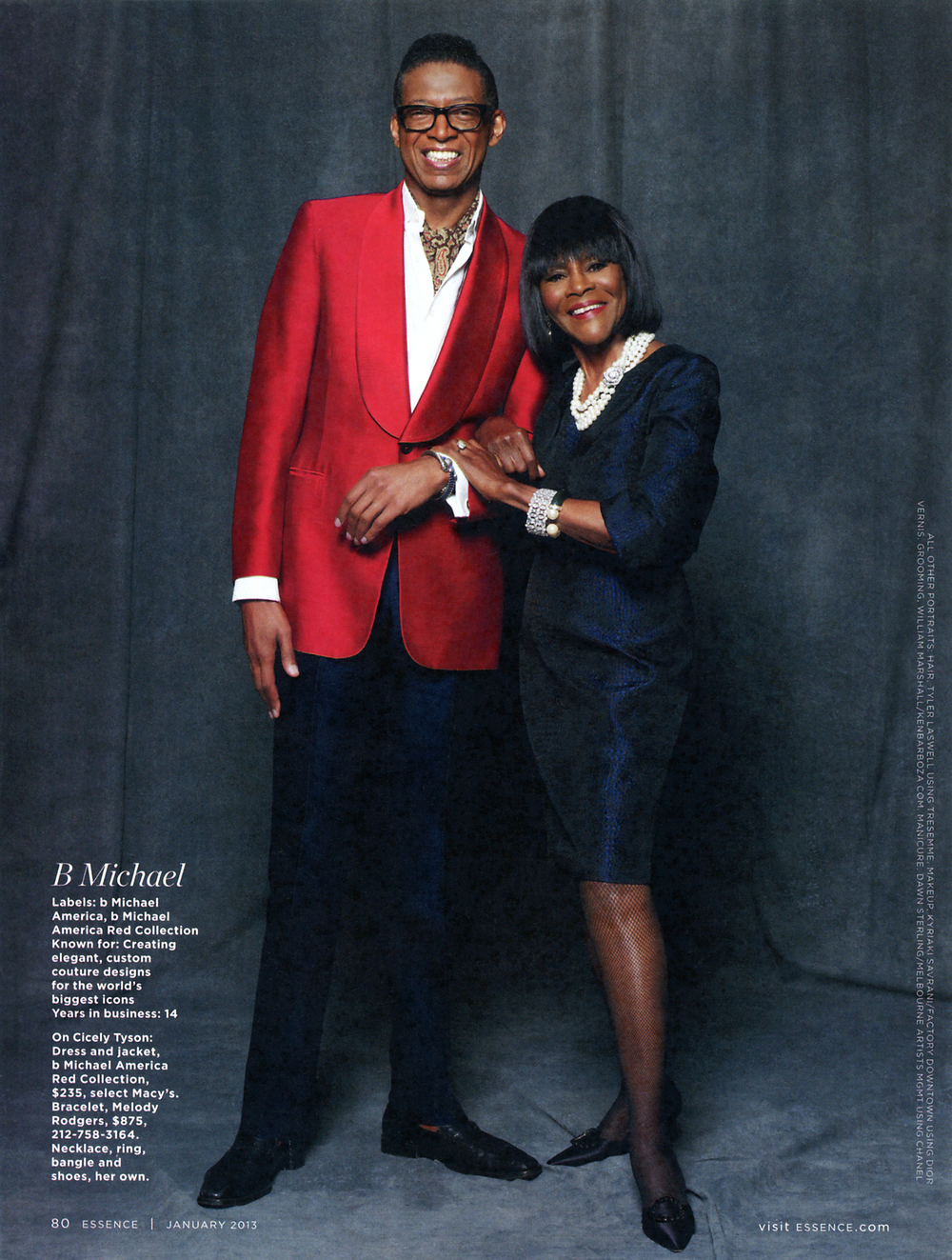 b Michael & Cicely Tyson / Essence