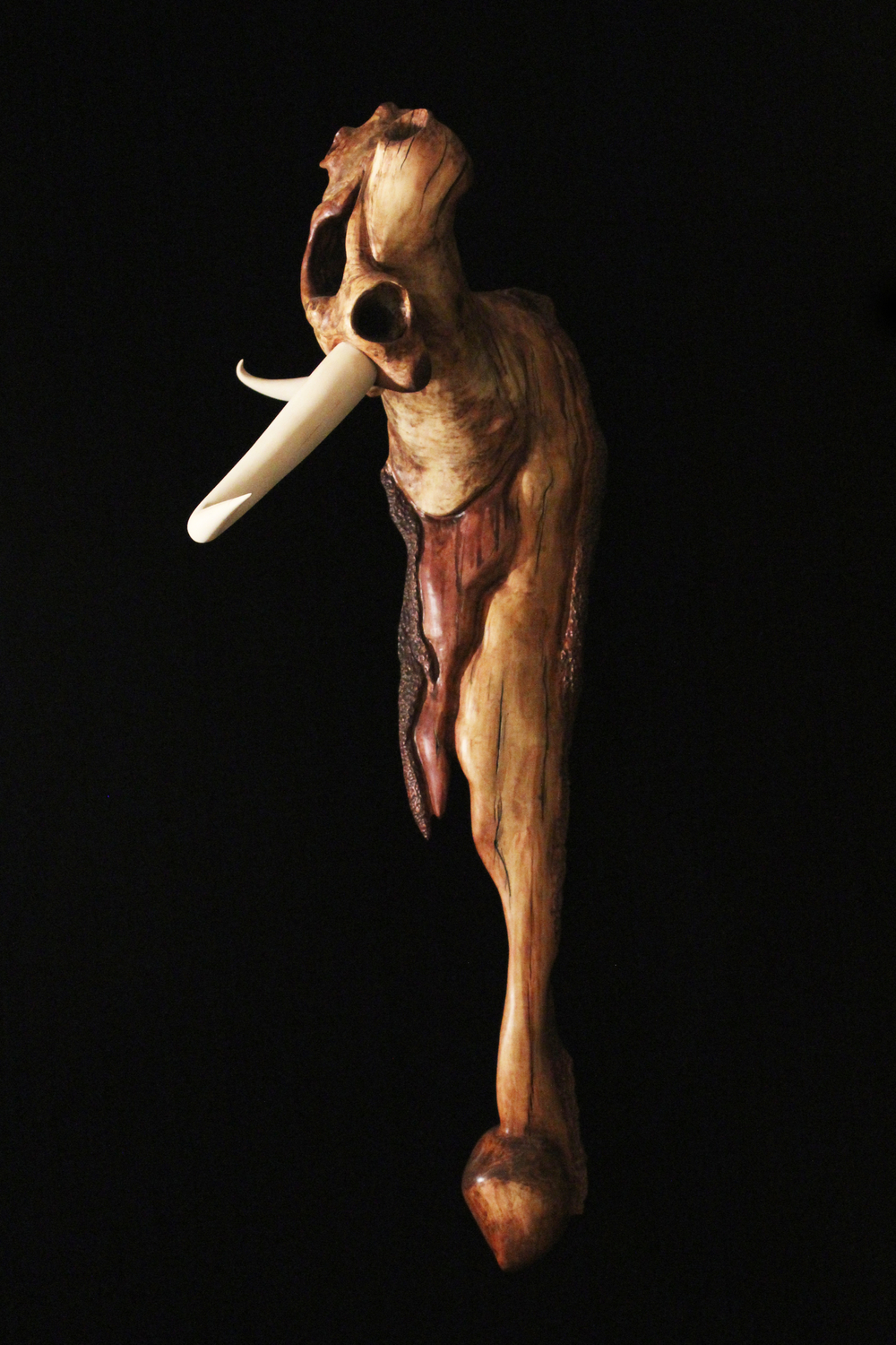 "Residual, 2012. 38"" x 14"" x 16"". Basswood, Box Elder."