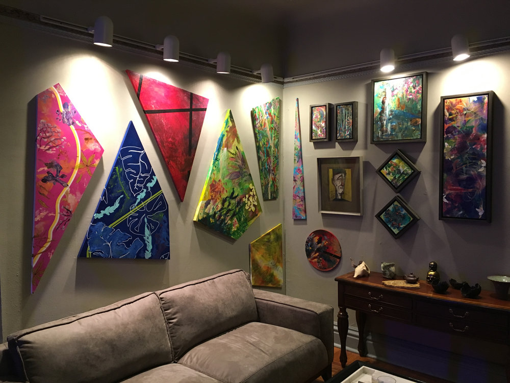 Artwork enhancing wall space