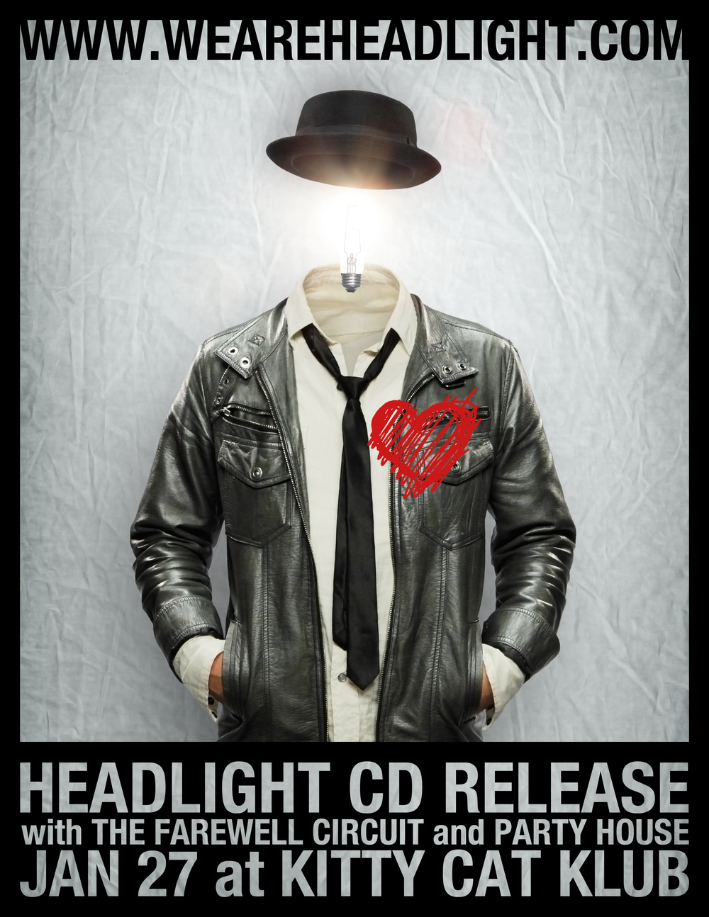 The flier for our CD release show. 1/27/12 Photography, editing, and design by Nick Kallies