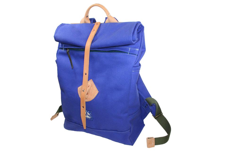 Afton backpack in Indigo Blue.