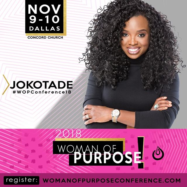 We love this woman right here! @Jokotadeofficial always drops an amazing word when she speaks. Expect your life to be changed and those edges snatched when you hear her speak. ⠀⠀⠀⠀⠀⠀⠀⠀⠀ ⠀⠀⠀⠀⠀⠀⠀⠀⠀ Don't forget to use the code 50OFF to get 50% off your tickets this week. Click link in bio to register or go to www.womanofpurposeconference.com⠀⠀⠀⠀⠀⠀⠀⠀⠀ ⠀⠀⠀⠀⠀⠀⠀⠀⠀ #WOPConference18 ⠀⠀⠀⠀⠀⠀⠀⠀⠀ #EmpowerHer ⠀⠀⠀⠀⠀⠀⠀⠀⠀ #WomanofPurpose
