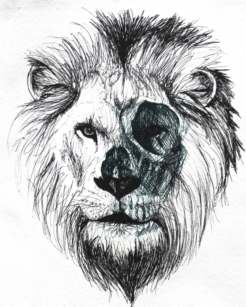 "Lion Litho lithograph 8""x10"""