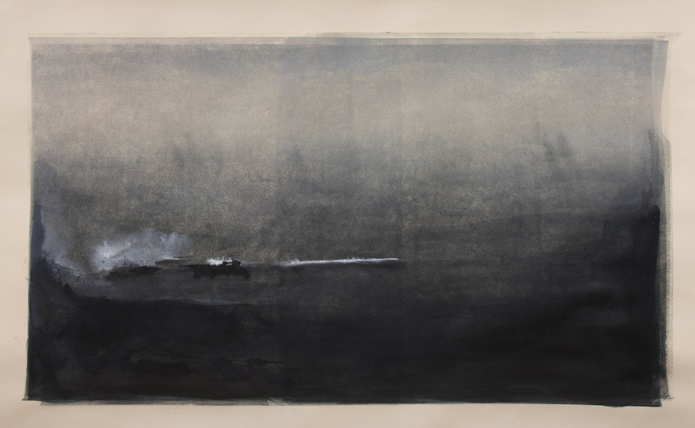 "Stratus Monotype and ink on paper |  300 / 450  18""x30"""
