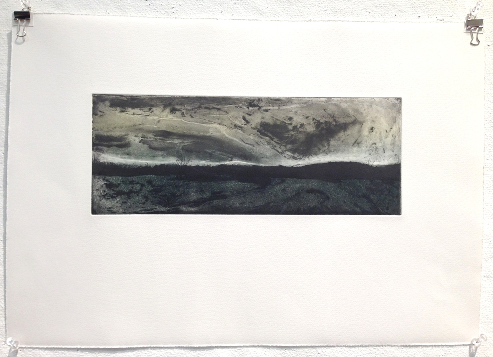 "Hampden, MA etching on paper |  50 /125  6""x15"""