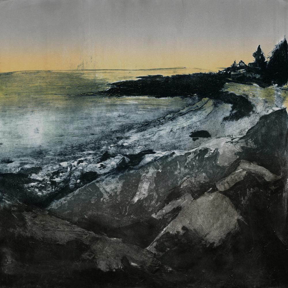 "Untitled (triptych 1/3), 2015 Carborundum |  1500  22""x22"""
