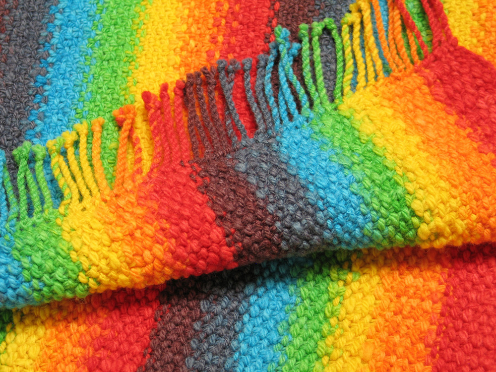 Color spectrum scarf by Gina Hooten. Used on Special Interests Groups page.