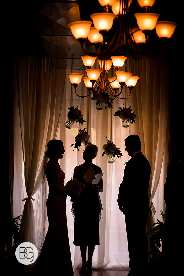 wedding ceremony sabor divino portugese restaurant silhouette edmonton photographers