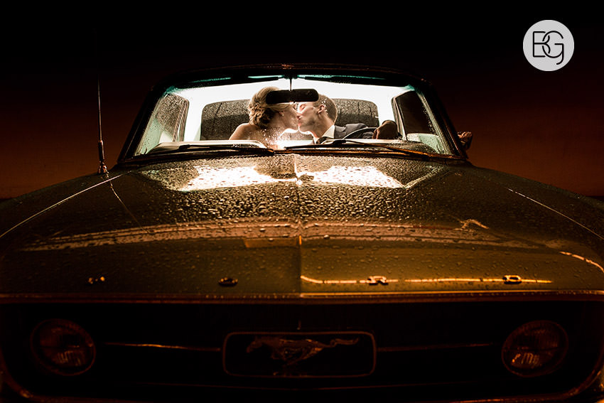 antique ford mustang kiss edmonton wedding photographer