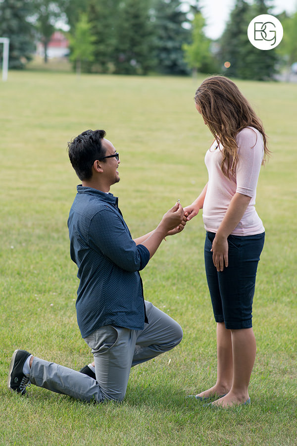 wedding proposal in a park edmonton