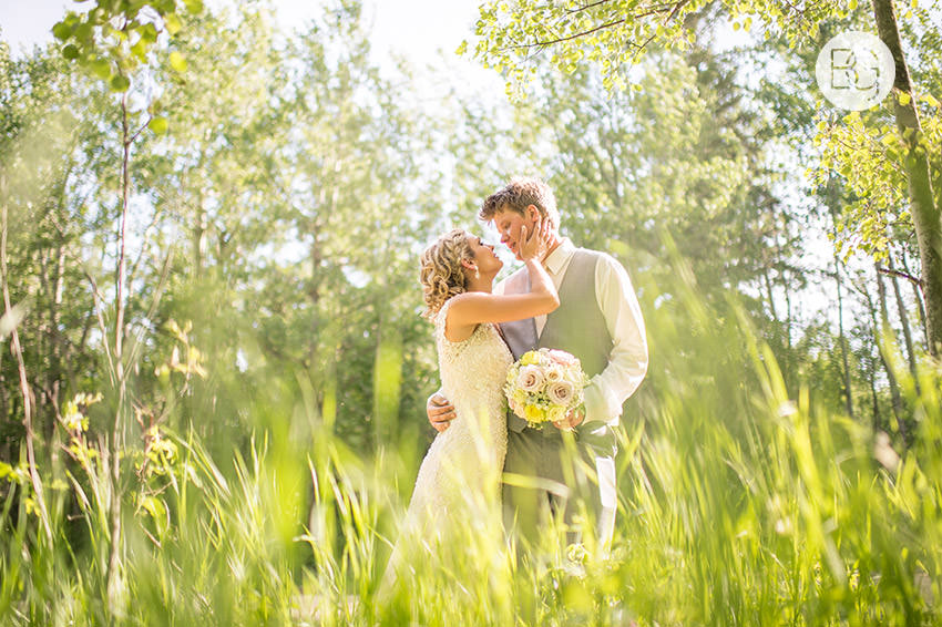 Edmonton wedding photographers green springtime glowing beautiful