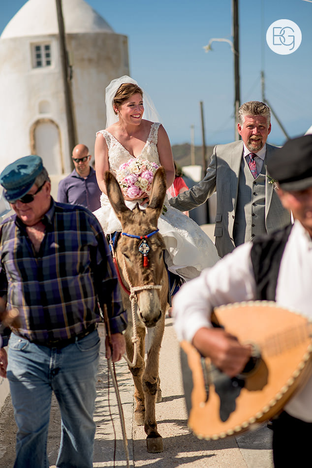 wedding donkey santorini