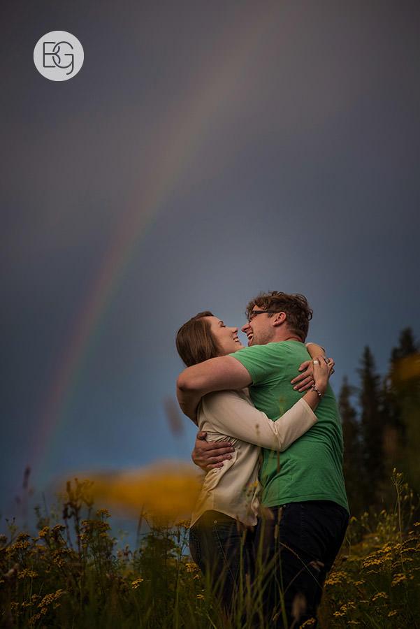rainbow storm edmonton wedding photographers
