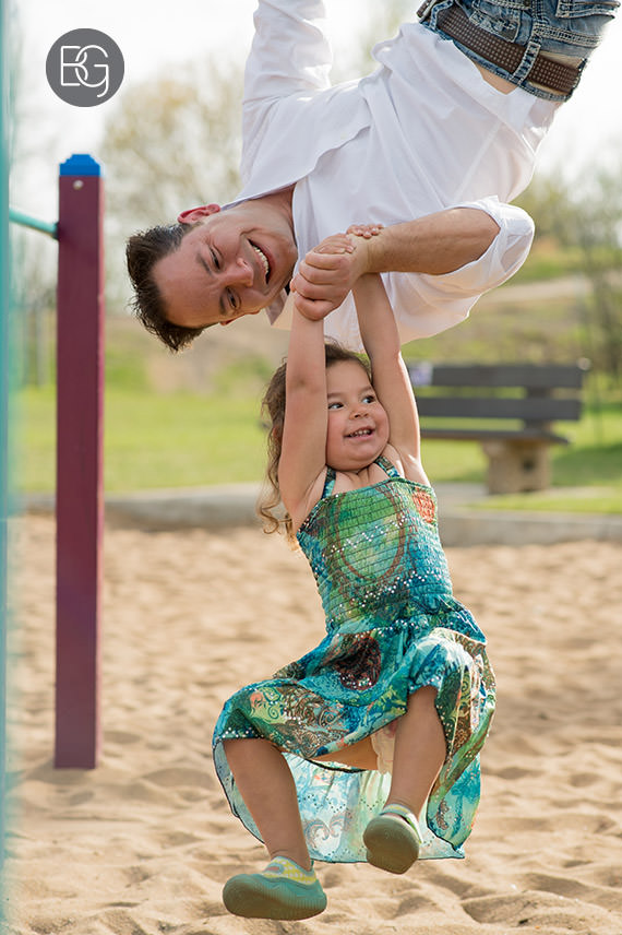 edmonton family photographer father daughter playground fun
