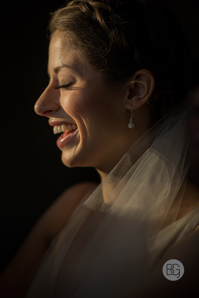 bridal portrait laughter sunshine edmonton wedding photographer