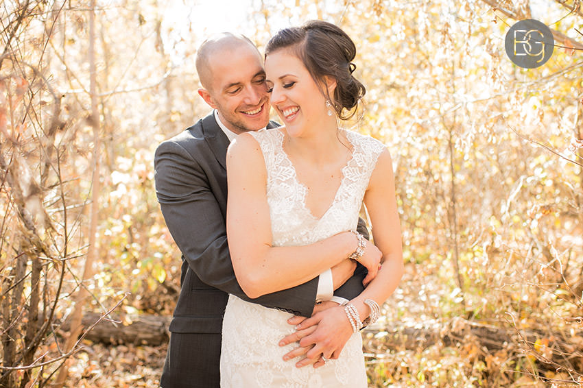 autumn edmonton wedding portrait