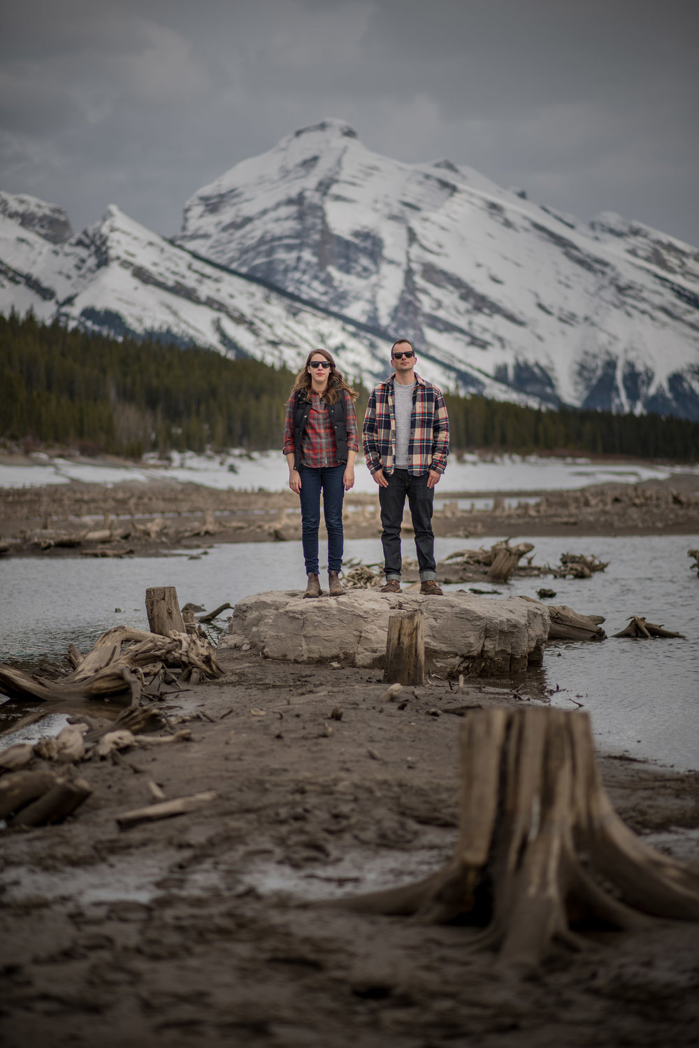 engagement photos destination mountains wedding canmore
