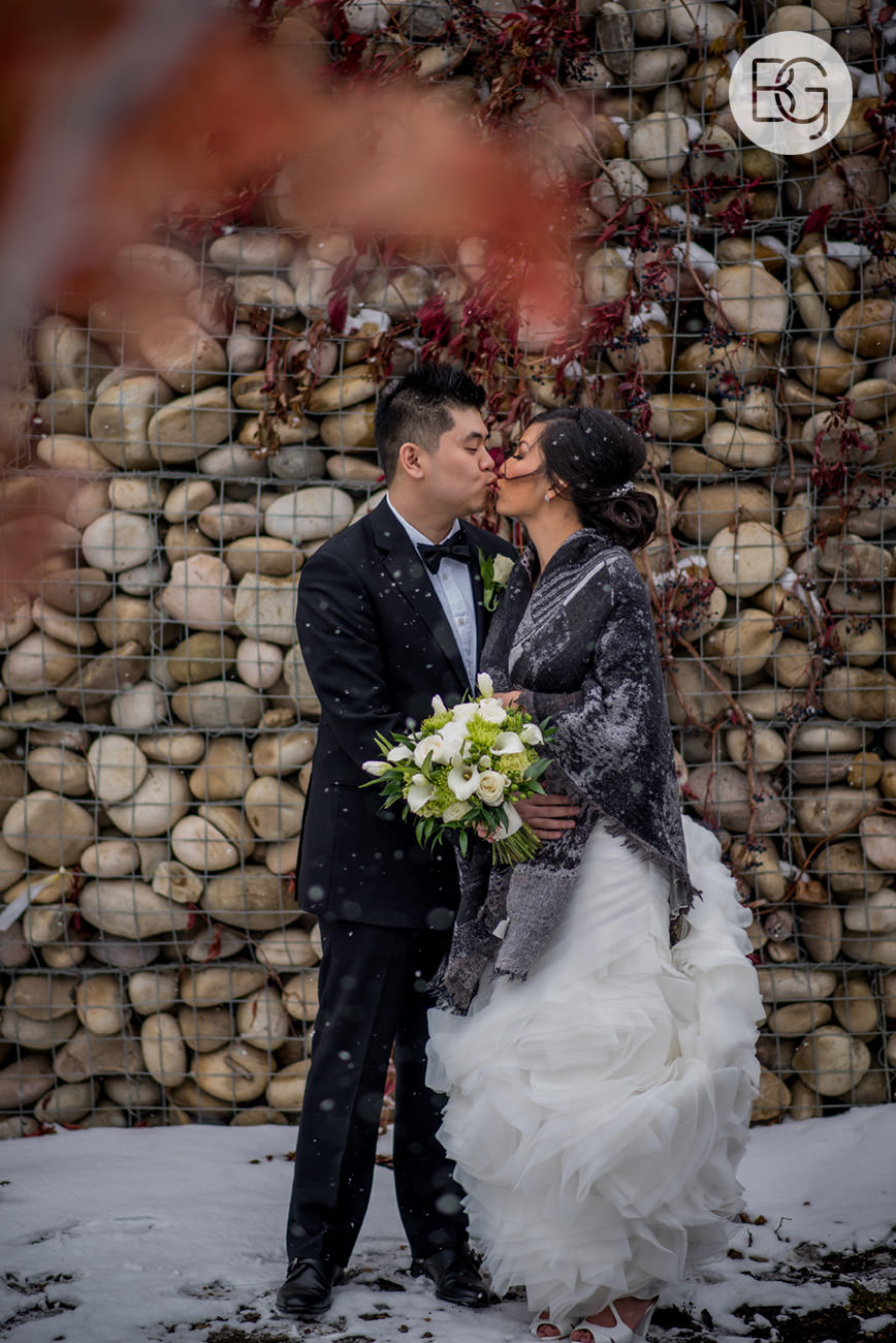 snowy winter wedding enjoy center edmonton best photographers