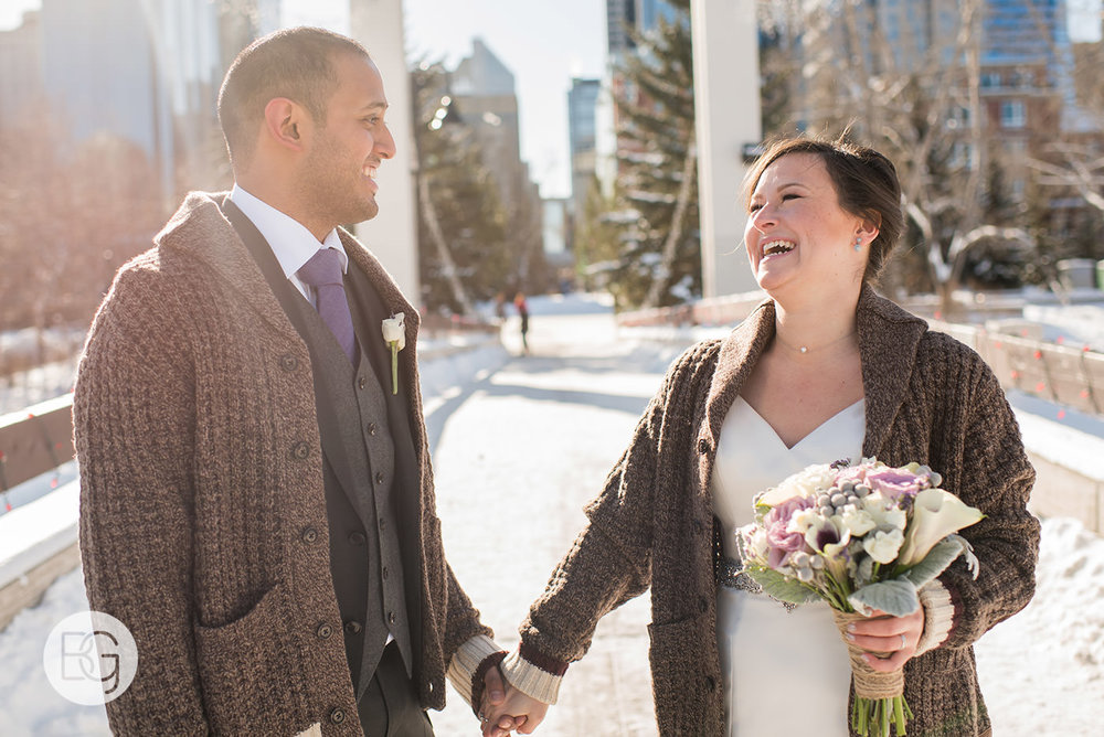 calgary river cafe wedding brunch winter wedding photographers