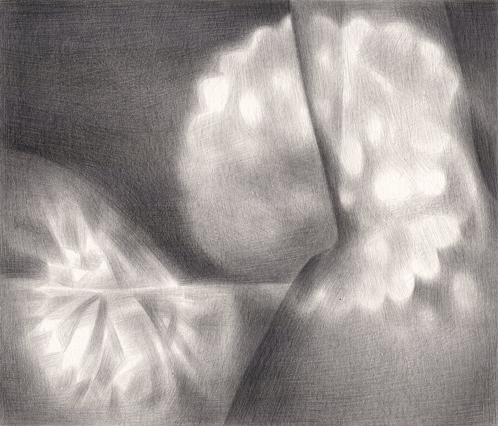 "Bedside Manner , 2007. Graphite on paper. 7"" x 6""."