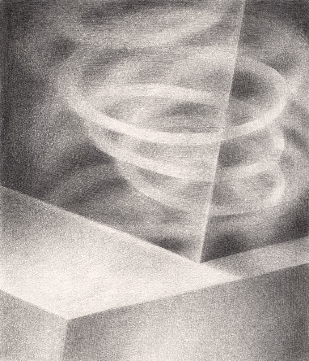 "The Hypnotic Threat , 2005. Graphite on paper. 6"" x 7""."