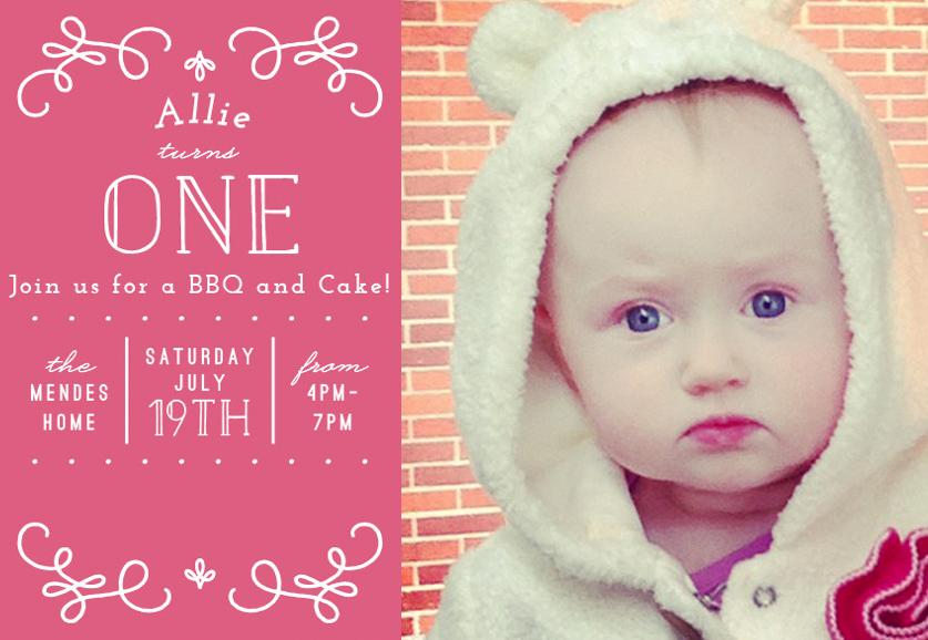 Allie's sweet invite
