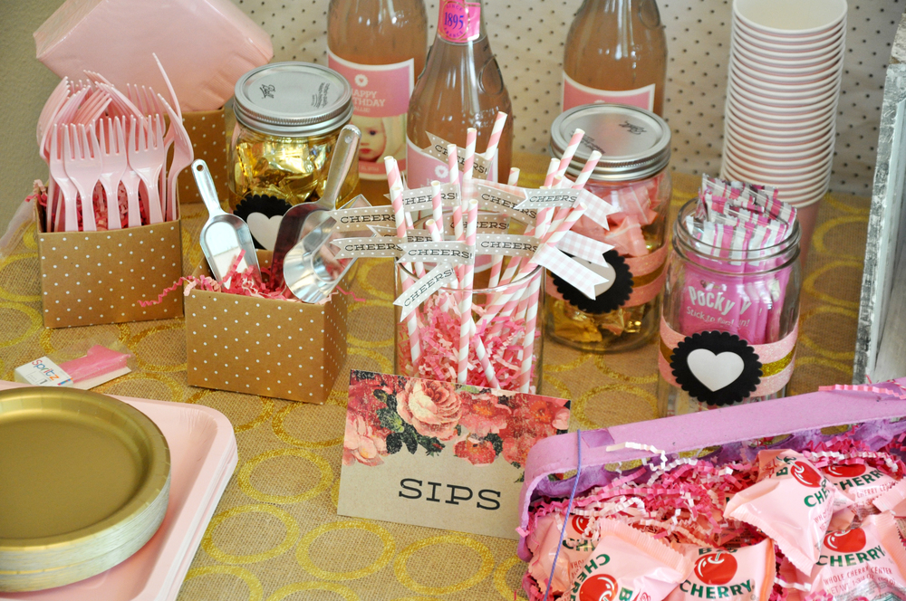 Sips/treat signs, and straws are part of the Minted porch party collection found HERE