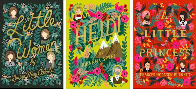 A new line of classics with gorgeously illustrated covers by renowned stationery brand  Rifle Paper Co. 's lead artist,  Anna Bond  .