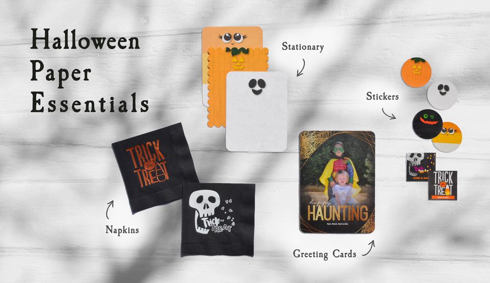 Personalized Napkins | Halloween Photo Card | Halloween Stickers | Halloween Stationary |