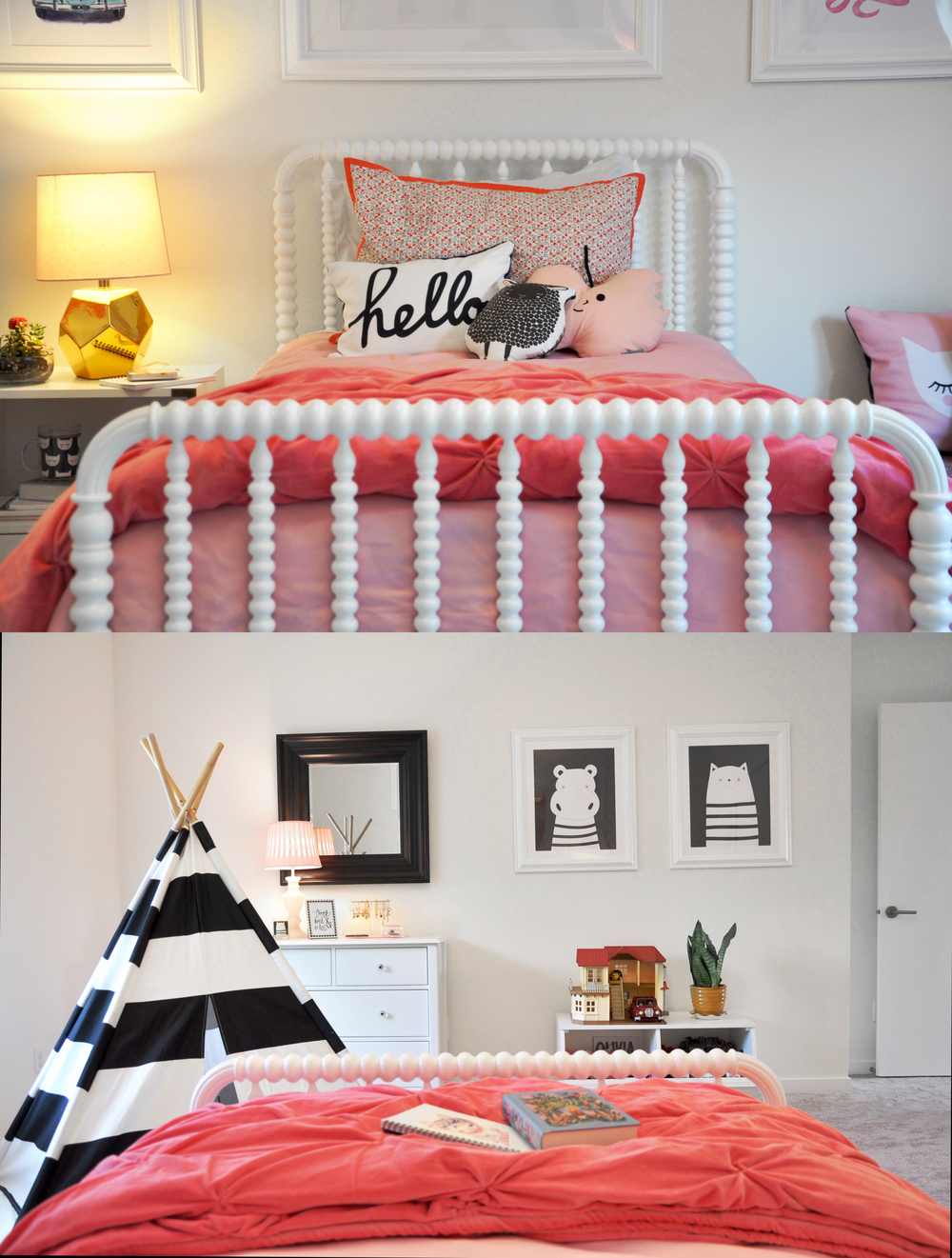 Hippo and Cat Wall Art: Upload Your Own Design Art Print | Low Level Cubby Storage:  Storagepalooza  | A Teepee to Call Your Own |