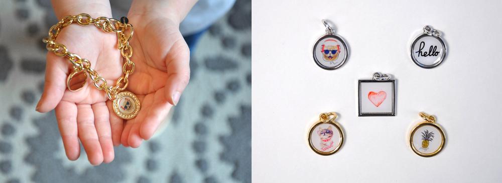 Gold Isla Bracelet | Photo Charms |Custom Jewelry|