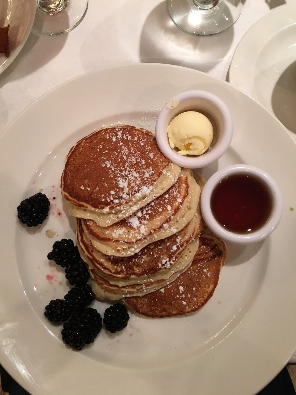 Lemon Ricotta Pancakes at SaraBeth's