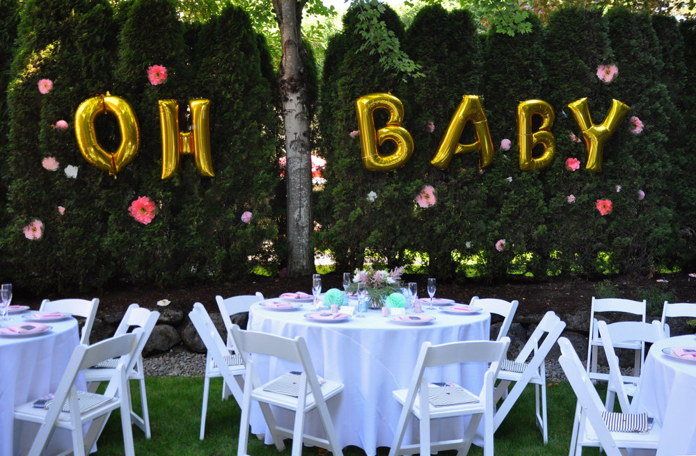 oh baby balloons paper flower tutorial table chair and linen rentals