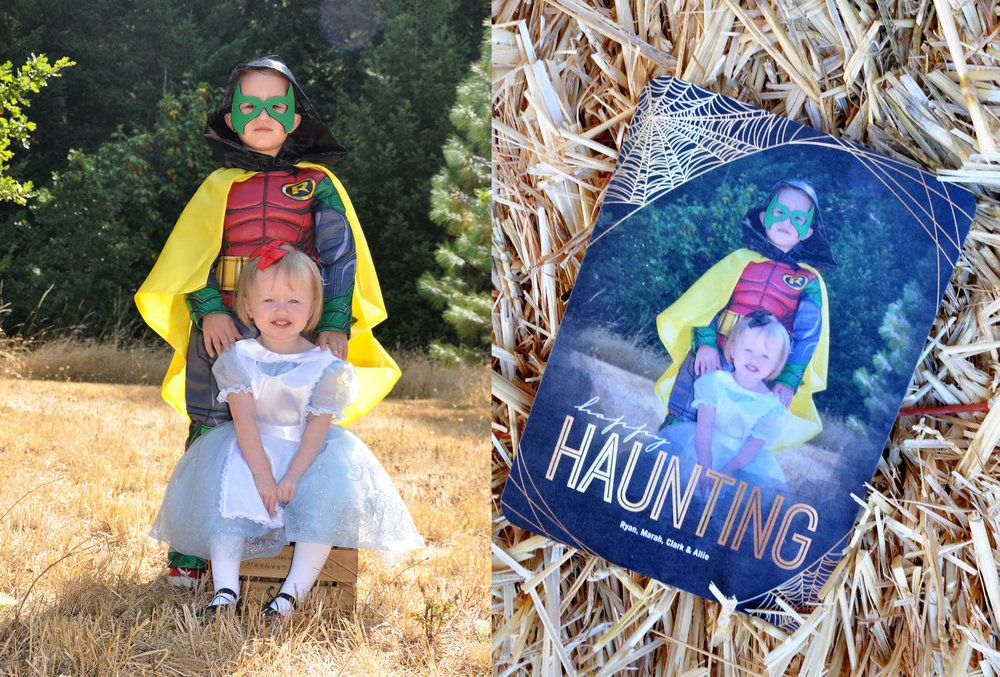 Ever send a Halloween greeting card? It is way more fun then a Christmas card since it is so unexpected. Costumes Chasing Fireflies , Halloween Greeting Card Tinyprints