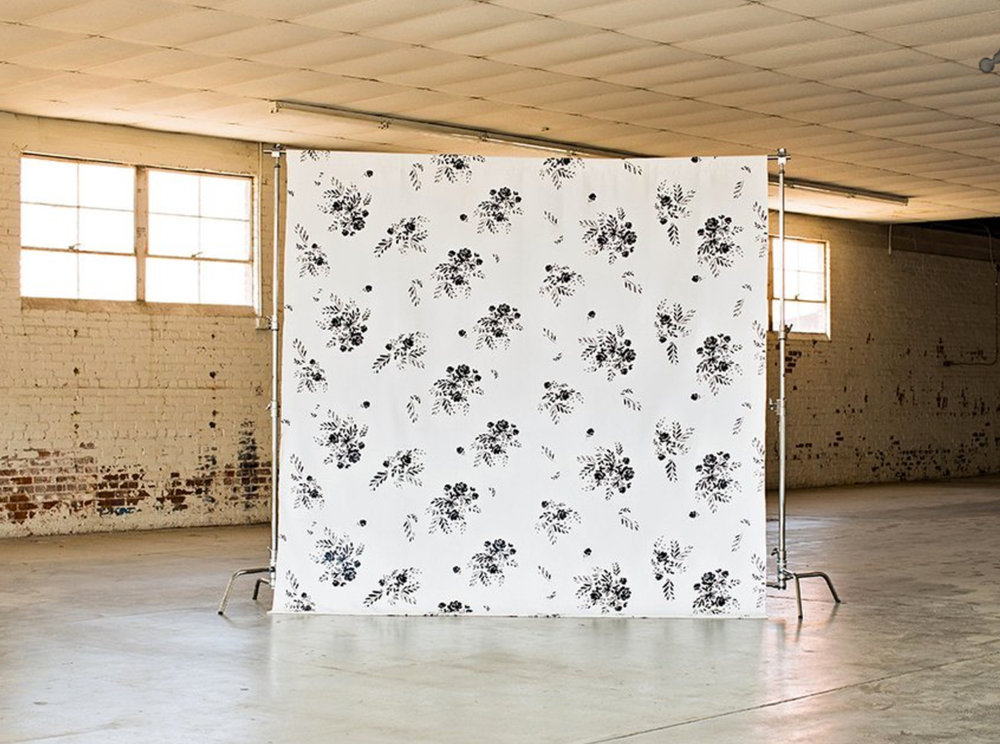 The backdrops from DropitModern.com are so unique. I ordered THIS ONE pictured above to go behind the dessert table. It will really set the scene which will allow us to go super simple with the table itself. This purchase requires the use of a photo backdrop stand and I found an inexpensive one HERE.