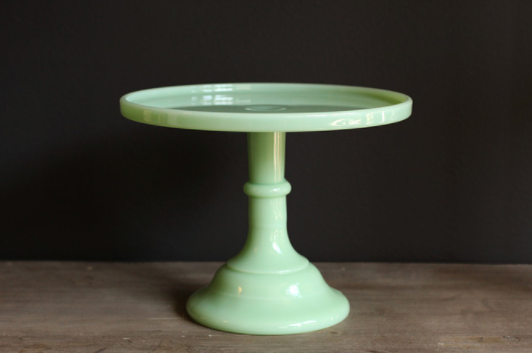 This Mint Green Cake Stand will look great with our Rustic Cake.
