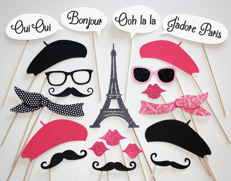 THESE adorable photo booth props will add a little fun to the gathering.
