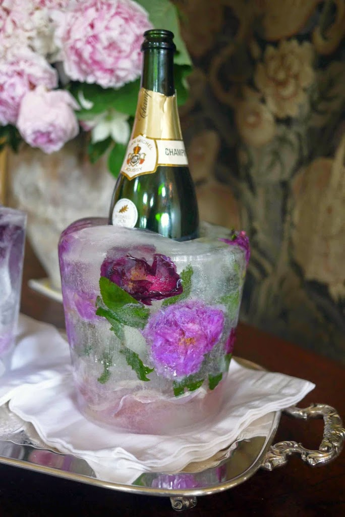 I am entertaining the idea of making these floral ice buckets. They look fairly simple in this Online Tutorial.