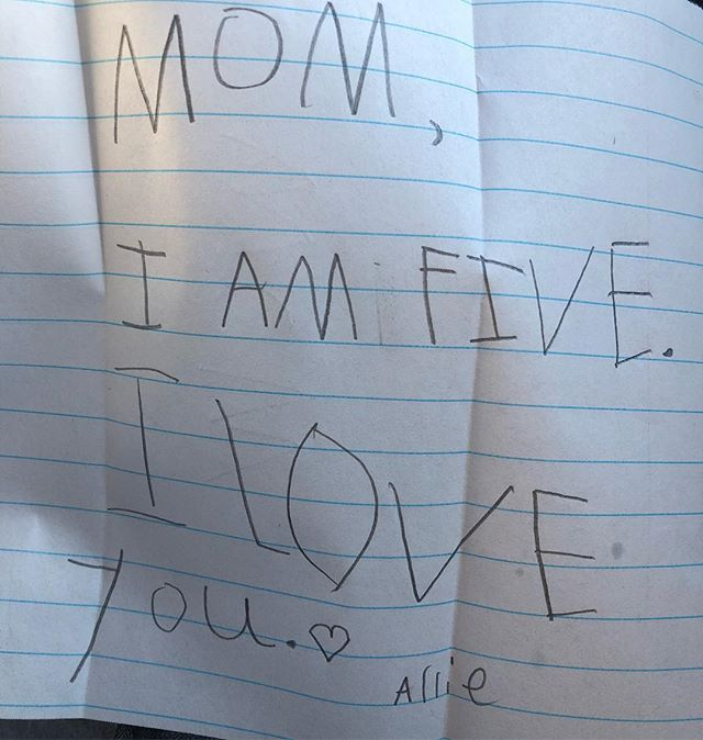 When your baby learns to write.